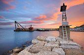 pic of piraeus  - Pier in Mikrolimano marina in Athens - JPG