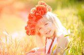 image of red-necked  - Little girl  - JPG