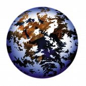 picture of lithosphere  - an illustration of the globe planet earth - JPG