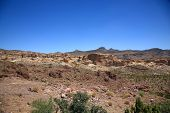 stock photo of southwest  - Mountain desert landscape from the American Southwest - JPG