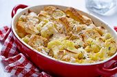 stock photo of leek  - Casserole with cauliflower - JPG