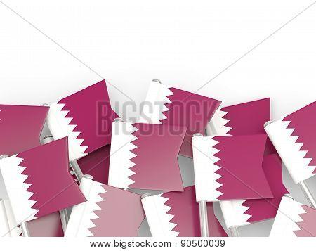 Flag Pin Of Qatar