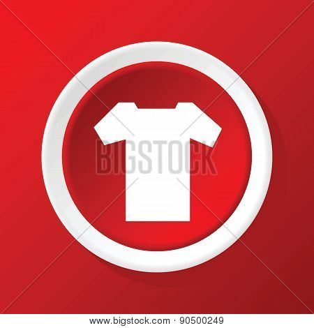 T-shirt icon on red
