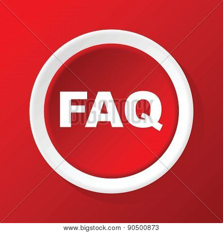 FAQ icon on red