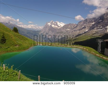 The Wetterhorn And Lake