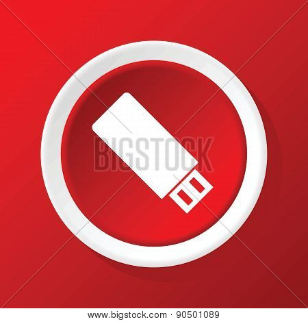 USB icon on red