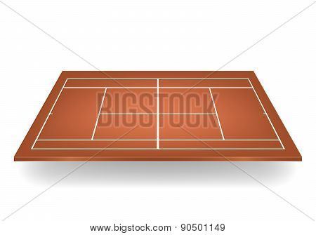 Vector 3D Brown Tennis Court
