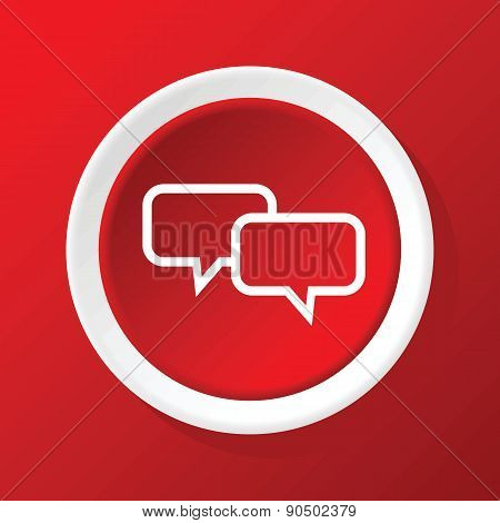 Chat icon on red