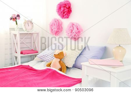 Beautiful pink girls bedroom