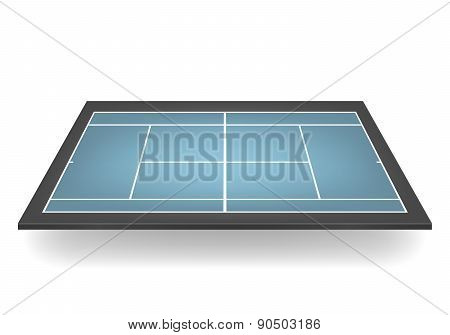 Vector 3D Combinated Tennis Court