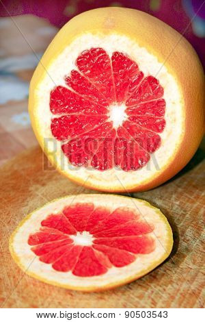 Grapefruit Red Cut By Piece