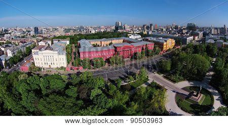 Kiev, Ukraine, May 11, 2015. National University, aerial view