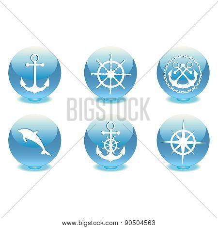 Marine set. Vector illustration