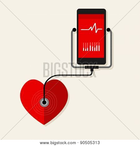 health heart rate mobile monitoring phone