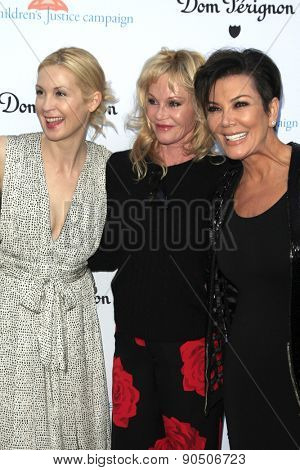 LOS ANGELES - MAY 12:  Kelly Rutherford, Melanie Griffith, Kris Jenner at the Children's Justice Campaign Event at the Private Residence on May 12, 2015 in Beverly Hills, CA
