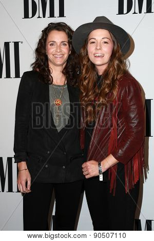 LOS ANGELES - MAY 12:  Catherine Carlile, Brandi Carlile at the BMI Pop Music Awards at the Beverly Wilshire Hotel on May 12, 2015 in Beverly Hills, CA