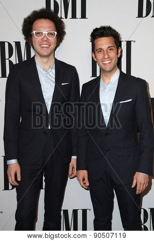 LOS ANGELES - MAY 12:  Ian Axel, Chad Vaccarino at the BMI Pop Music Awards at the Beverly Wilshire Hotel on May 12, 2015 in Beverly Hills, CA
