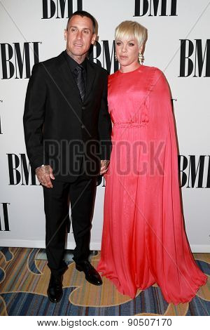 LOS ANGELES - MAY 12:  Carey Hart, Pink, Alecia Moore at the BMI Pop Music Awards at the Beverly Wilshire Hotel on May 12, 2015 in Beverly Hills, CA