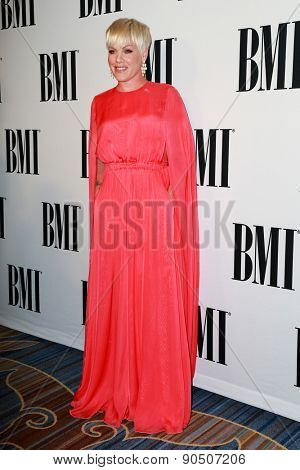 LOS ANGELES - MAY 12:  Pink, Alecia Moore at the BMI Pop Music Awards at the Beverly Wilshire Hotel on May 12, 2015 in Beverly Hills, CA