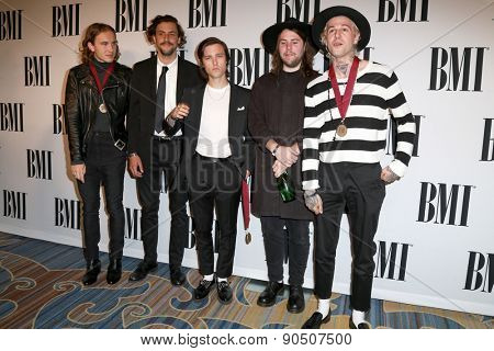 LOS ANGELES - MAY 12:  The Neighbourhood at the BMI Pop Music Awards at the Beverly Wilshire Hotel on May 12, 2015 in Beverly Hills, CA