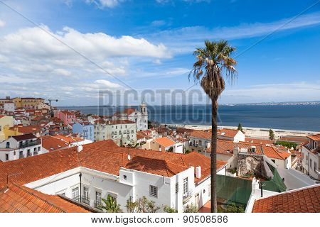 Lisbon Rooftop From Portas Do Sol Viewpoint - Miradouro In Portugal