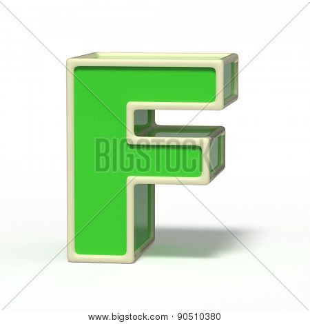 letter F isolated on white background