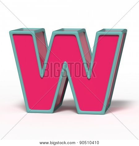 letter W isolated on white background