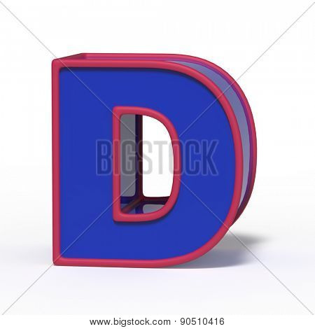 letter D isolated on white background