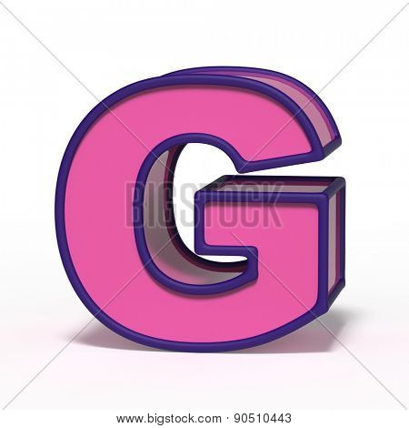 letter G isolated on white background