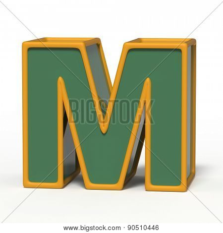 letter M isolated on white background