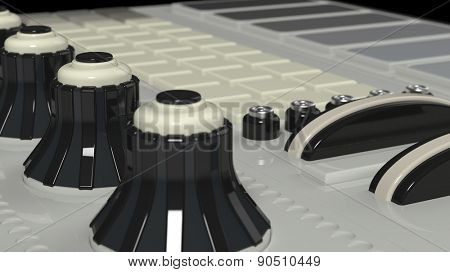 vintage close up technology equipment