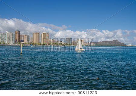 Sailing at Waikiki