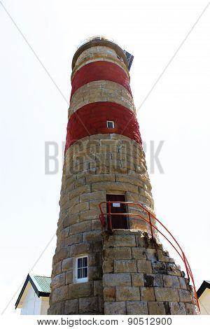 Sandstone lighthouse Moreton Island Queensland