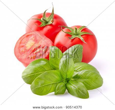 Fresh tomato with basil spice