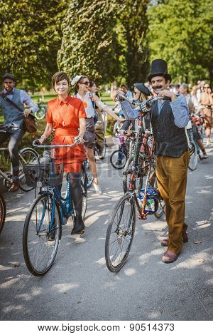 Toronto - September 20: Tweed Ride on September 20, 2014 in Toronto, Canada