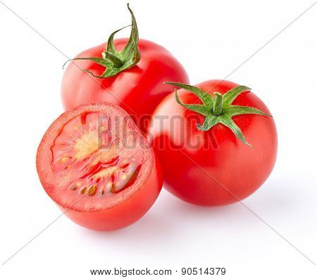Fresh tomato in closeup