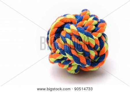 Colorful Dog Rope Ball Toy