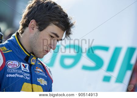 Richmond, VA - Apr 24, 2015:  Chase Elliott (9) watches his crew work during a practice session for the ToyotaCare 250 at Richmond International Raceway in Richmond, VA.