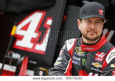 Bristol, TN - Apr 17, 2015:  Kurt Busch (41) watches practice for the Food City 500 at Bristol Motor Speedway in Bristol, TN.