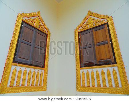Window beside the temple.