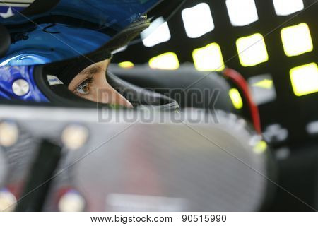 Bristol, TN - Apr 17, 2015:  Danica Patrick (10) straps into her car for the Food City 500 at Bristol Motor Speedway in Bristol, TN.
