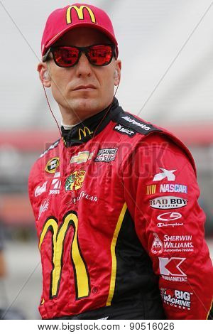 Bristol, TN - Apr 17, 2015:  Jamie McMurray (1) watches practice for the Food City 500 at Bristol Motor Speedway in Bristol, TN.