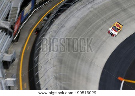 Bristol, TN - Apr 17, 2015:  Michael Annett (46) goes through the turns during a practice session for the Food City 500 at Bristol Motor Speedway in Bristol, TN.