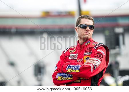 Bristol, TN - Apr 17, 2015:  David Ragan (18) watches practice for the Food City 500 at Bristol Motor Speedway in Bristol, TN.