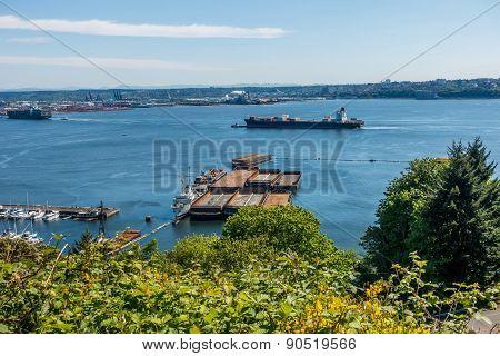 Ship Enters Port Of Tacoma 2