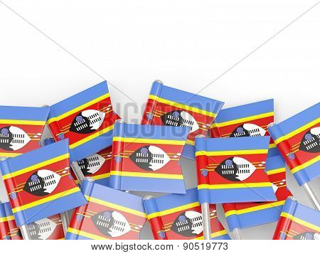 Flag Pin Of Swaziland