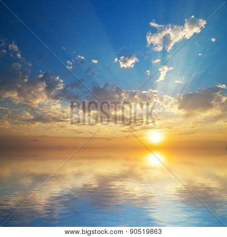 Beautiful seascape sky background. Composition of nature.