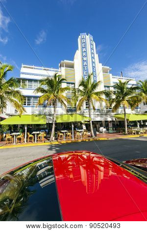 Breakwater Hotel Located At Ocean Drive