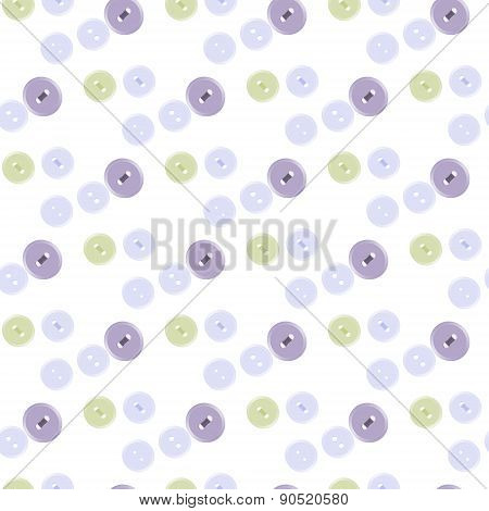 Seamless Pattern Of Pastel Colored Buttons