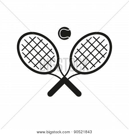 The Tennis Icon. Game Symbol. Flat